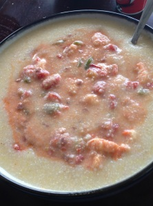 Bobby Dean's Lightened-up Shrimp & Grits