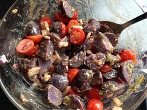 Mayo-Free Purple Potato Salad